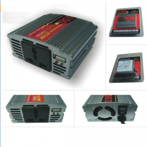 New 150W DC 24V to AC 220V Power CAR USB INVERTER