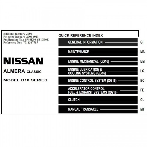 For Nissan repair Manuals