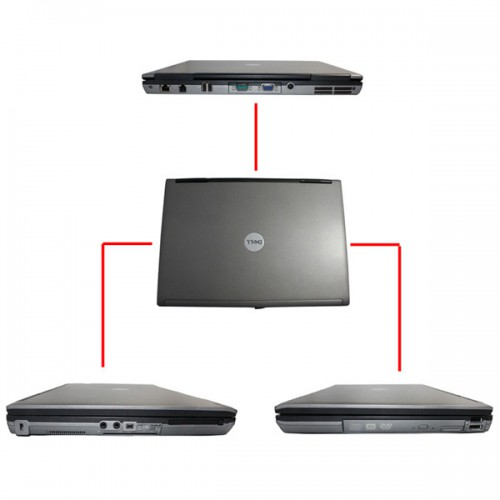 Dell D630 Core2 Duo 1,8GHz, 4GB Memory WIFI, DVDRW Second Hand Laptop Especially for BMW