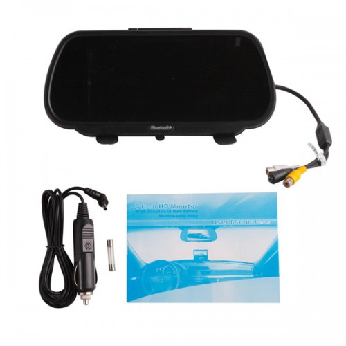 HD Rearview Monitor with Bluetooth Handsfree and Multimedia Play