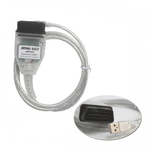 MINI VCI FOR TOYOTA TIS Firmware V2.0.4 Single Cable Support VPW protocol