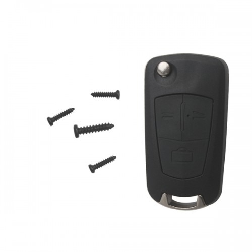 Modified flip remote key shell 3 button (HU100A) For Opel 5pcs/lot