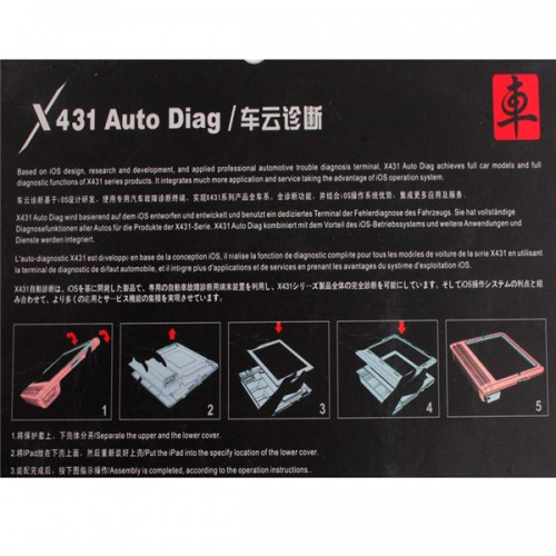 Launch X431 Auto Diag scanner for IPAD and Iphone