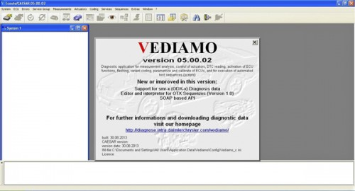 Vediamo V05.00.05 Development and Engineering Software for MB SD C4 with One Free Activation( Suitable for All Serial Numbers)