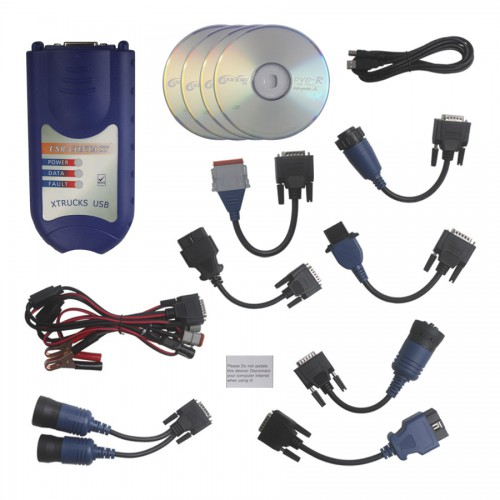 New XTRUCK USB CONTACT + Software Diesel Truck Diagnostic Interface