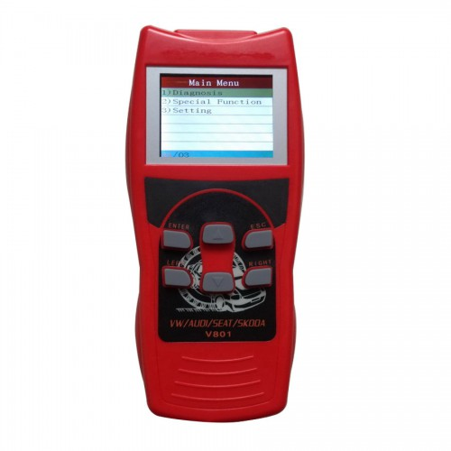 V801 V-a-g Auto Scanneur Pour Vw/Audi/Seat/Skoda On Live Data/Oil Reset/Airbag Reset