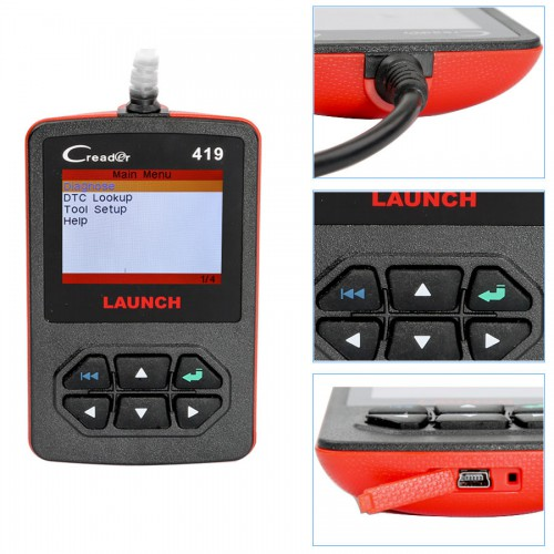 Launch CReader 419 DIY Scanner OBDII/EOBD Auto Diagnostic Scan Tool Code Reader Update Online