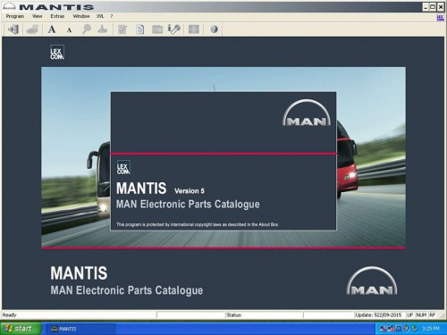 Man (Mantis) 2015 Workshop Info System Catalogues Fonctionne Avec Man Cats T200