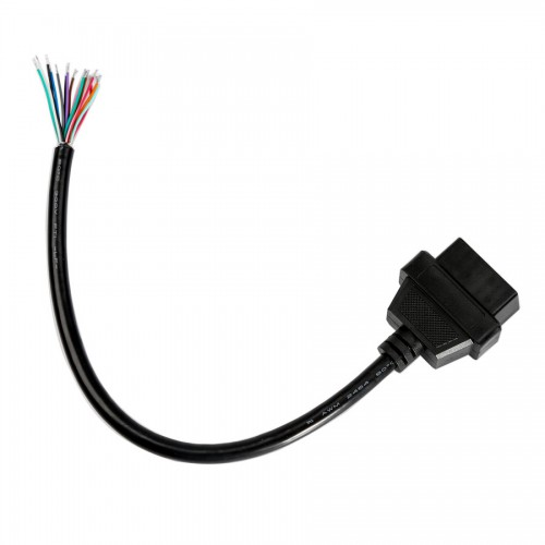 OBD2 16pin Female Connector to Open OBD Cable