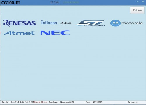 V5.0.0.0 CG100 PROG III Airbag Restore Devices including All Function of Renesas SRS XC236x FLASH