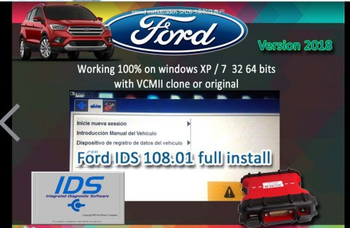Ford VCM2 IDS V119.01L Full Software Supporte Multi-langues WIN XP/7 32 64Bits