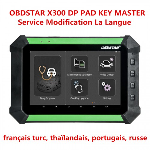 OBDSTAR X300 DP PAD KEY MASTER Service Modification La Langue