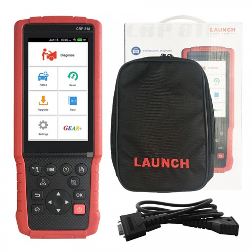Launch CRP818 Full System OBD2 Diagnostic Tool for Oil reset/TPMS reset/EPB reset/BMS reset/Injector programming for European Models