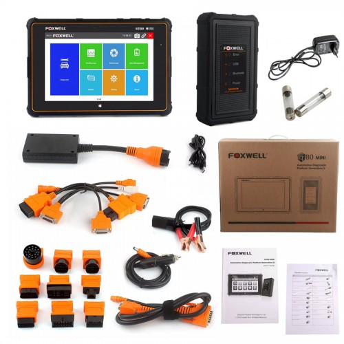 Foxwell GT80 Mini OBDII Car Diagnostic Scanner Tool support ABS SRS Airbag Engine Transmission