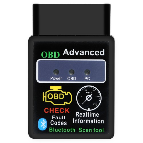 V2.1 Mini Bluetooth ELM327 OBD HH OBDII protocolos OBD2 Car Diagnostic Scanner Works on Android/Symbian/Windows