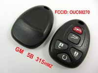 5Button 315MHZ Remote Key GM
