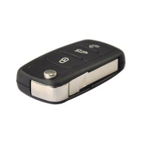 3 Button Remote Flip Key 434MHz For VW 5K0 837 202 AD CAN Chip Inside
