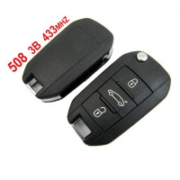 Original 508 3 Button 433MHZ Remote Key Peugeot