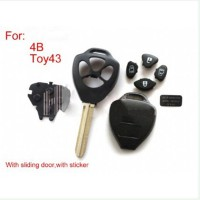Remote Key Shell 4 Button (with sticker) For Toyota 5psc/lot