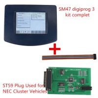 V4.94 Digiprog III Digiprog3 Odomètre Master Programmateur Plus ST59 Plug Used for NEC Cluster Vehicles