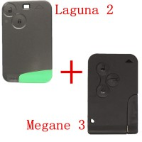 Megane 3 Button Smart Key 433MHZ Plus Laguna 2 Button Smart Key 433MHZ Pour Renault