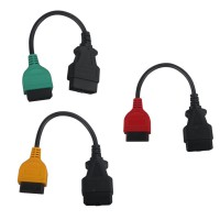 Auto ECU Scan Adaptors Fiat Connect Cable (3pieces/ set)