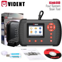 VIDENT iLink440 4 Systèmes Scan Tool Supporte Engine ABS Air Bag SRS EPB Reset Configuration de la Batterie
