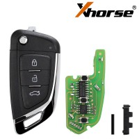XHORSE XKKF03EN Wire Universal Remote Key Fob Knife Style for VVDI Key Tool 5PCS