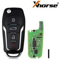 XHORSE XEFO01EN Super Remote Key Ford Style Flip 4 Buttons Built-in Super Chip Anglaise Version 5PCS