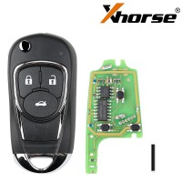 XHORSE XKBU03EN Wired Universel  Remote Key Flip 3 Buttons Buick Style Anglaise Version 5PCS