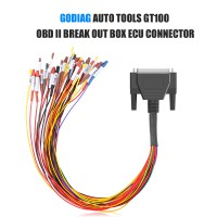 GODIAG AUTO TOOLS GT100 OBD II Break Out Box ECU Connector with OBD2 to OBD25 Cable