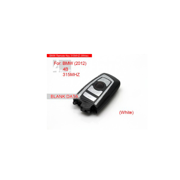 Smart key 4 Button 315MHZ 2012(White) for BMW 7series