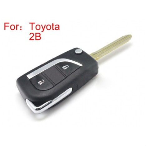 Toyota Modified Flip Remote Key Shell 2 Button