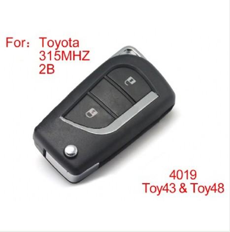 Toyota modified remote key 3 buttons 315MHZ (not including the chip)