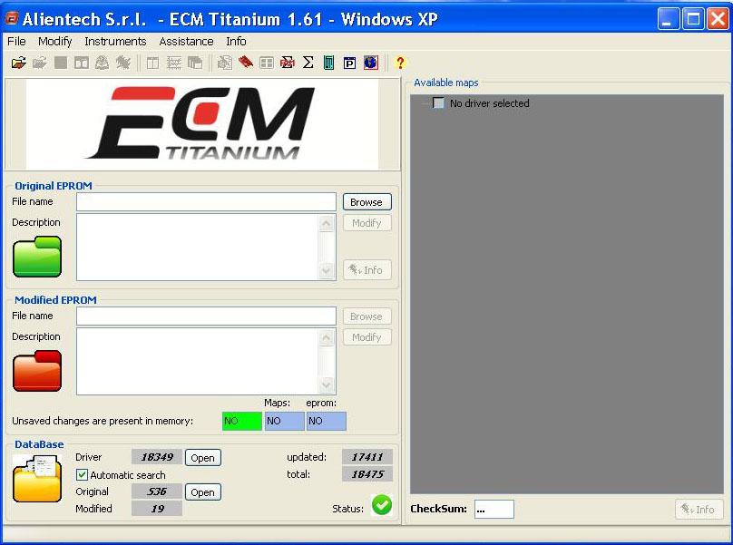alientech ecm titanium 1.61windows xp