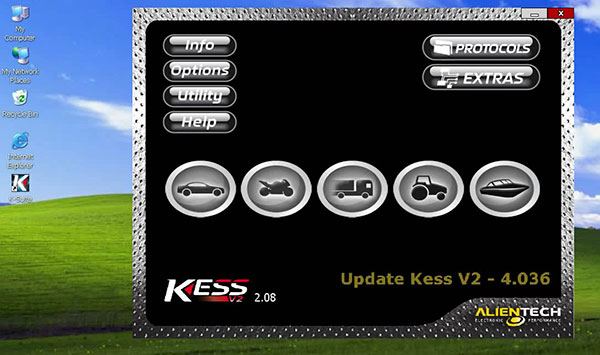 kess v2 master truck software display