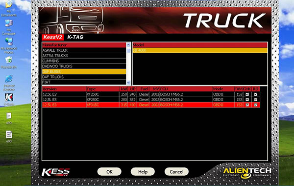 Update kess v2 clone truck version software display