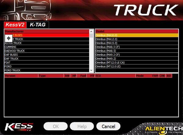 kess v2 v5017 support truck
