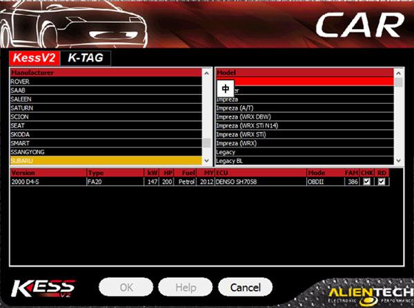 kess v2 v5017 support car