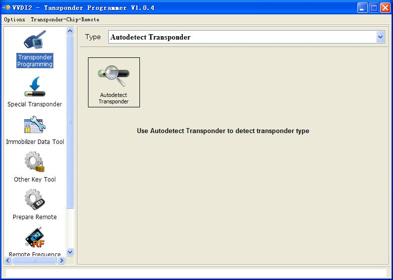VVDI2 Transponder Programmer software