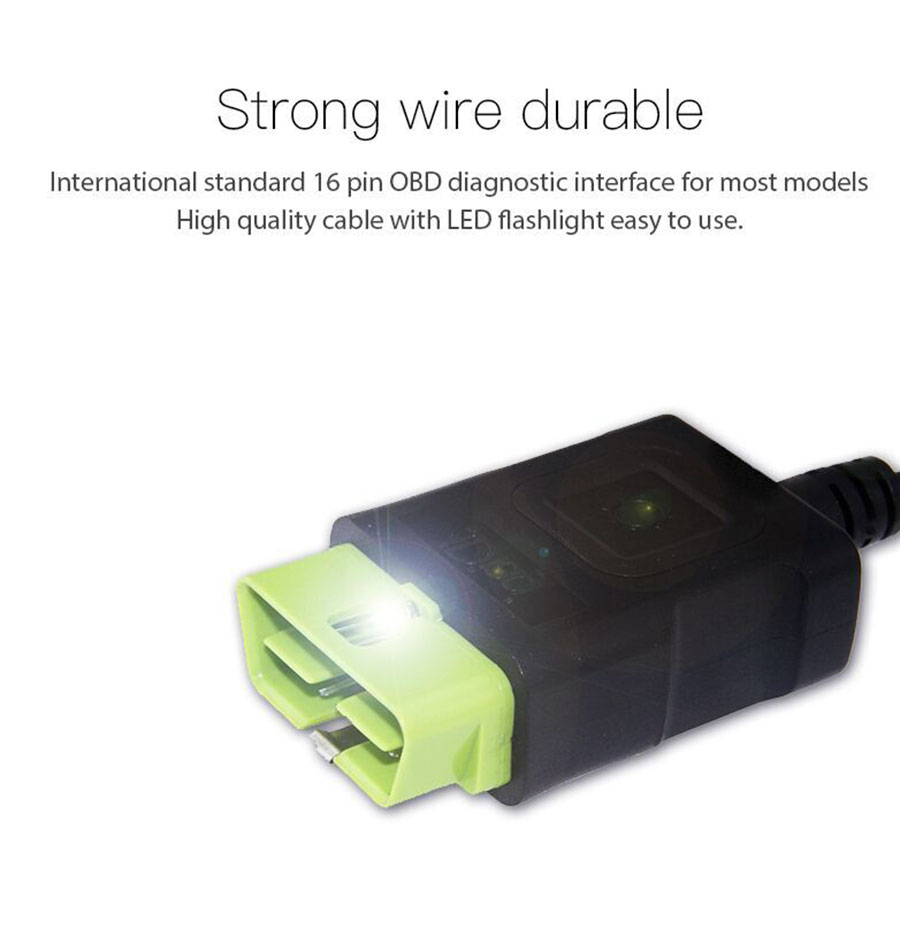 JDiag JD201 Code Reader strong wire durable