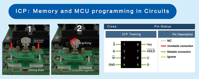 ICP: Programmation de la mémoire et du microcontr?leur dans les circuits
