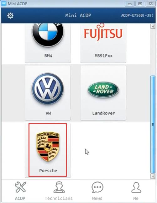 Mini ACDP Porsche BCM Key Programming Module