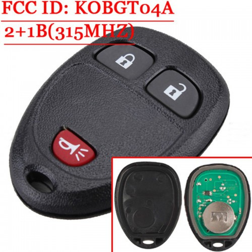 2+1 Button Remote for Chevrolet 315Mhz FCC ID KOBGT04A OUC60270