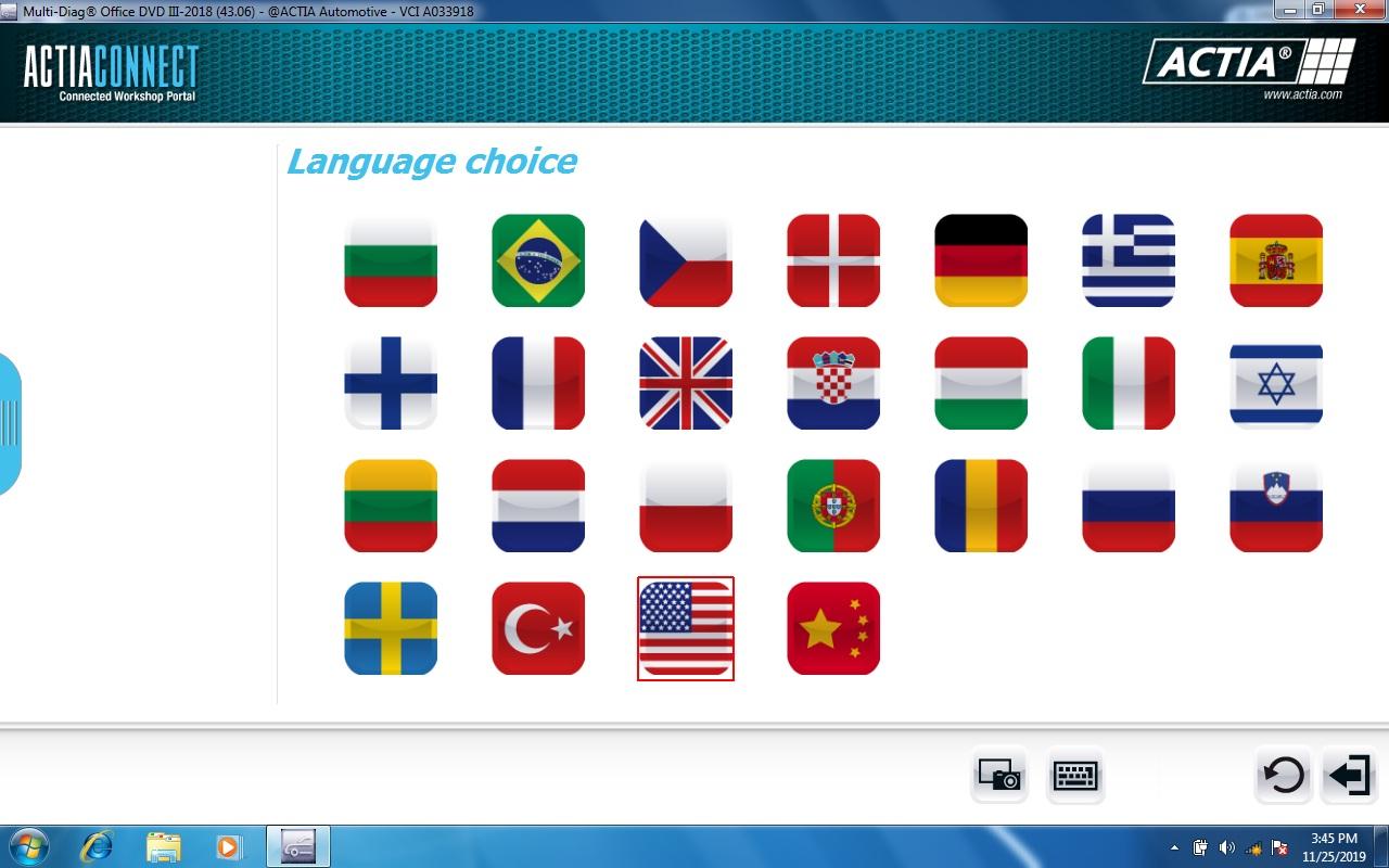 actia 2018 langues