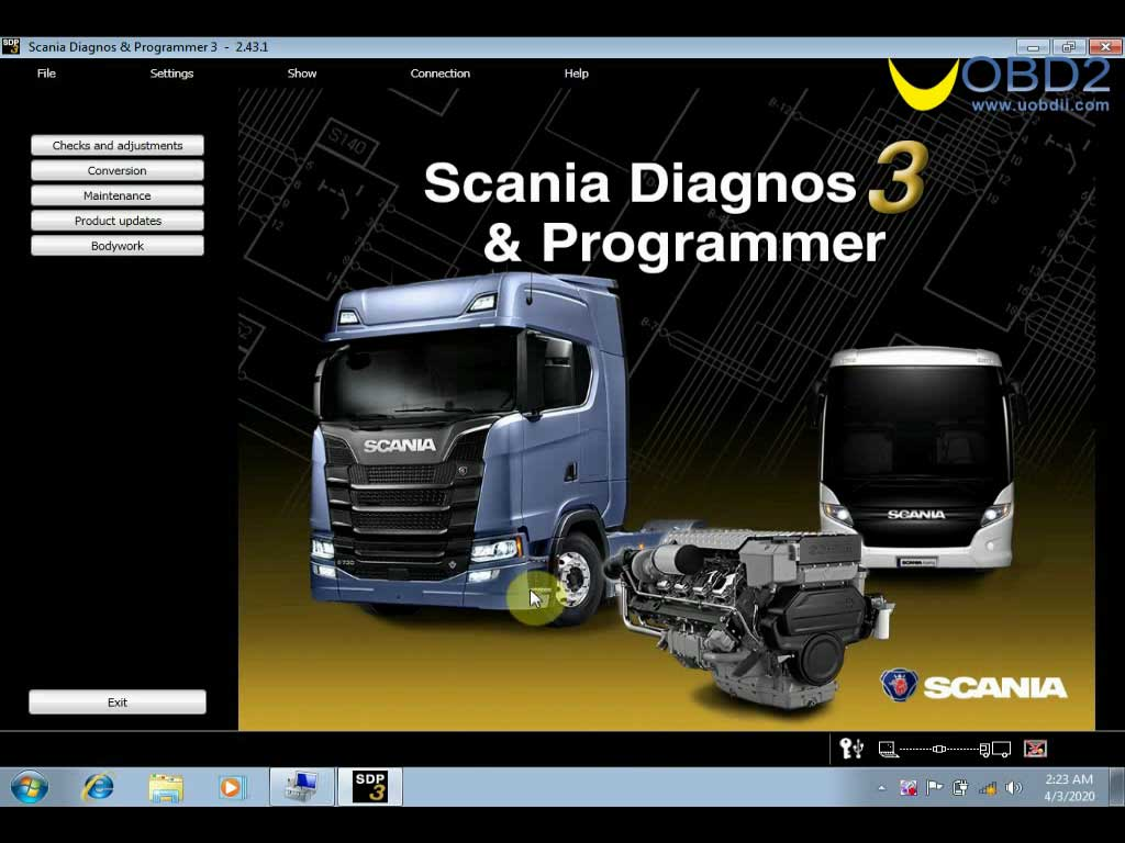 Scania VCI3 SDP3 V2.43 Software