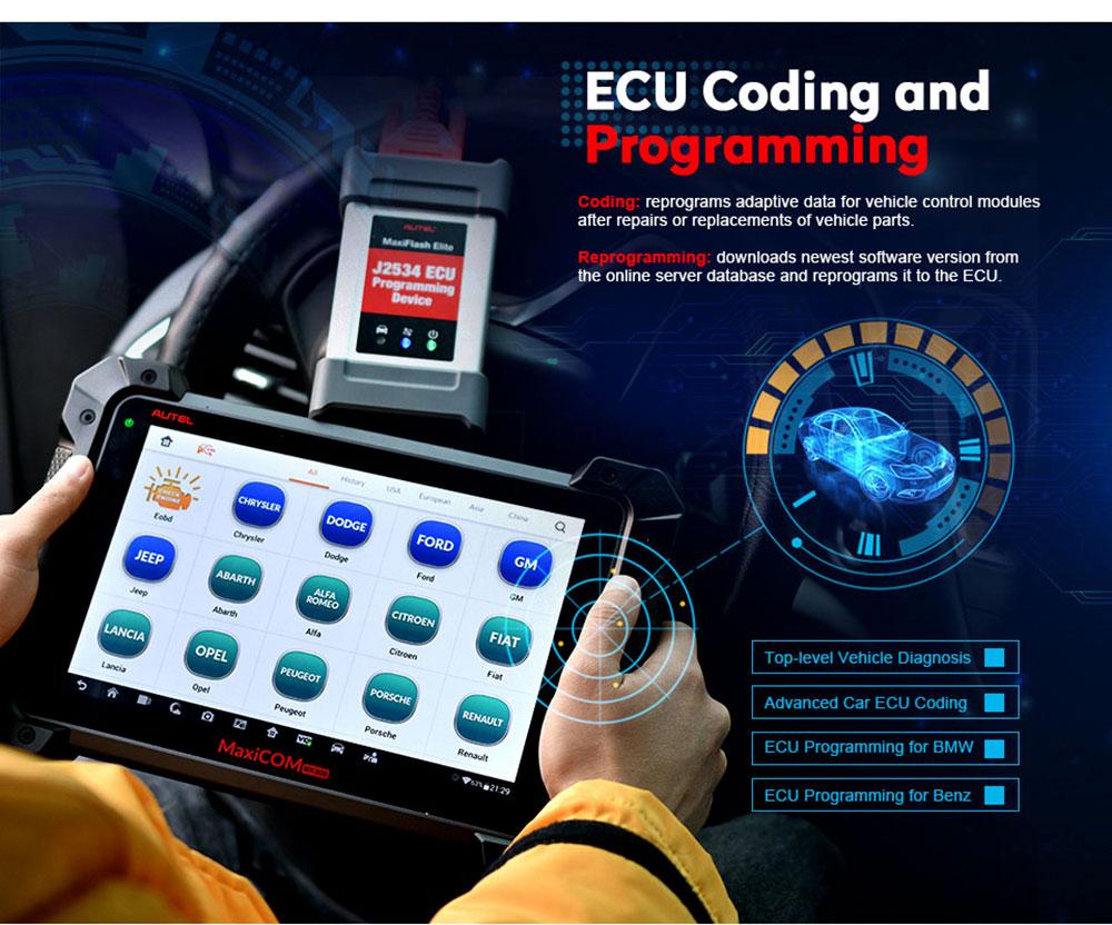 Autel MaxiCOM MK908P ecu coding
