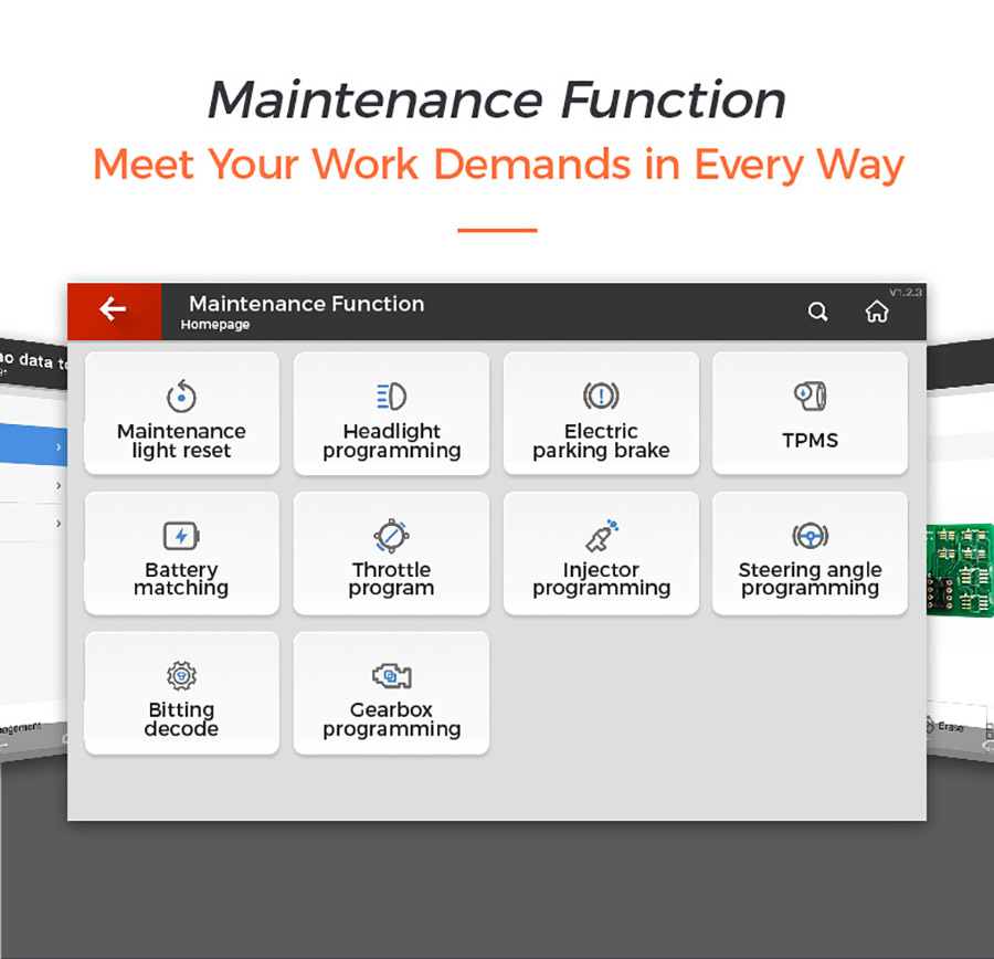 key tool plus Fonction de maintenance